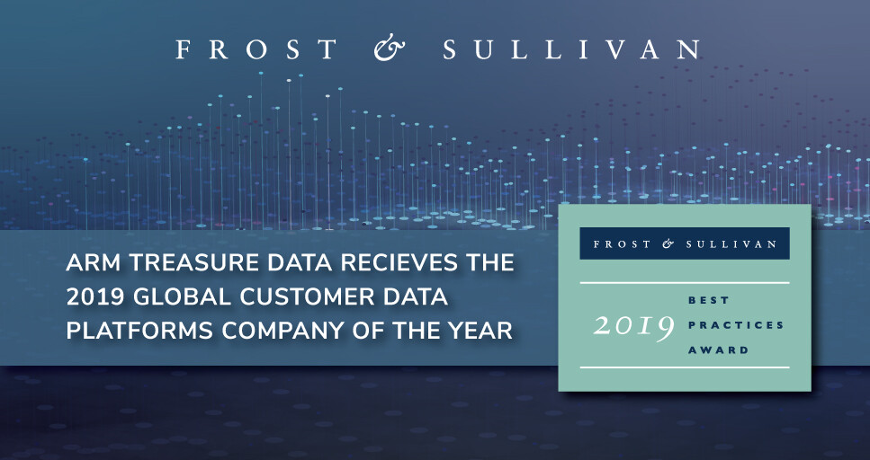 Arm Treasure Data Commended by Frost & Sullivan for Excellence in the Customer Data Platforms Market