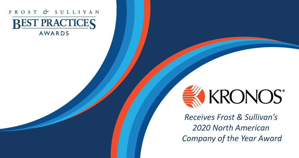 Kronos Applauded by Frost & Sullivan for Its Flagship Human Capital Management Solution, Workforce Dimensions™