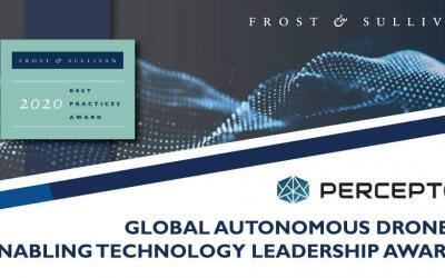 Percepto Lauded by Frost & Sullivan for Accelerating Clients' Decision-Making with its Emerging Technology-led Autonomous Drone Solution