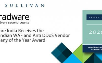 Radware Commended by Frost & Sullivan for Its Diverse Portfolio of WAF and Anti-DDoS Solutions for the Indian Market