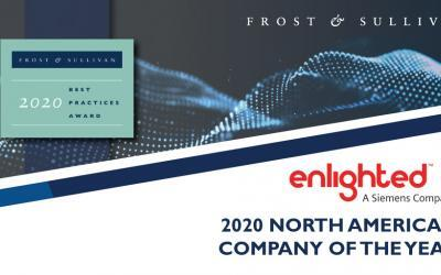 Enlighted Earns Frost & Sullivan's Company of the Year Award  for Its Innovative Building IoT Technology