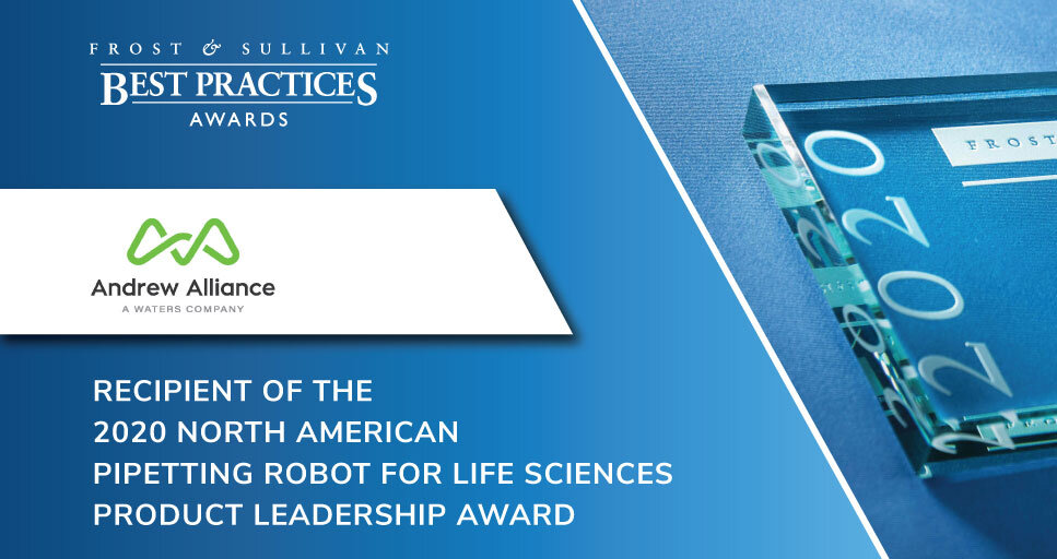 Andrew Alliance Earns Acclaim from Frost & Sullivan for Its Innovative Pipetting Robot, Andrew+