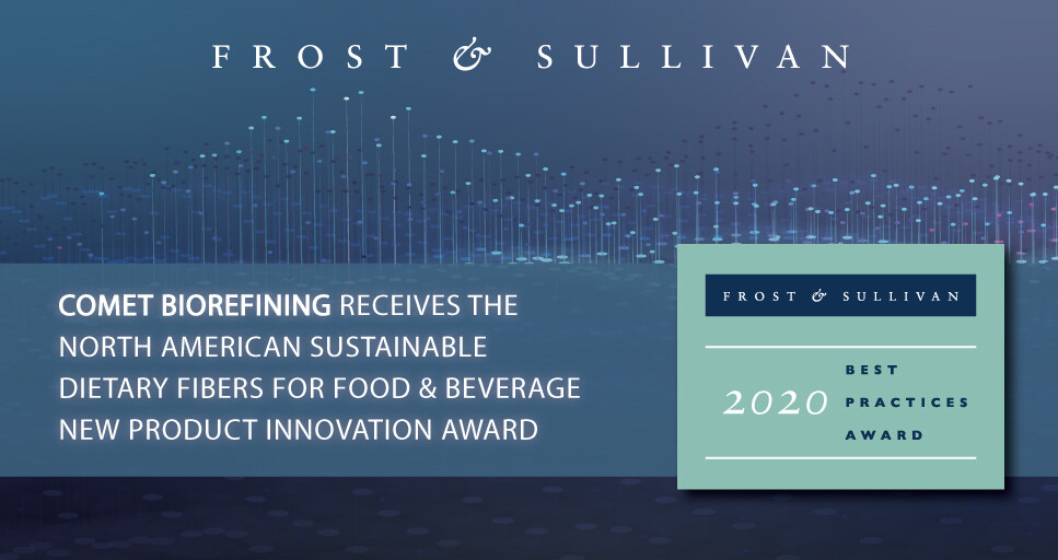 Comet Bio Awarded by Frost & Sullivan for its Arrabina™ Prebiotic Fiber