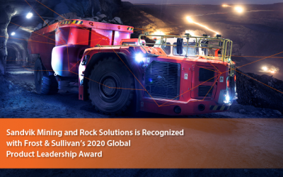 Sandvik Lauded by Frost & Sullivan for Enabling Automation and Digitalization in Underground and Surface Mining with its AutoMine® and OptiMine® Portfolio.