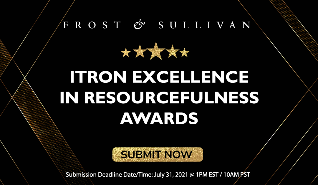 Frost & Sullivan Opens Nominations for Itron Excellence in Resourcefulness Awards