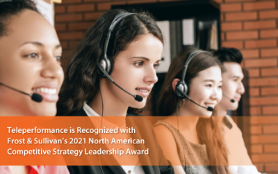 Teleperformance Recognized by Frost & Sullivan as the 2021 North American BPO Competitive Strategy Innovation Leader